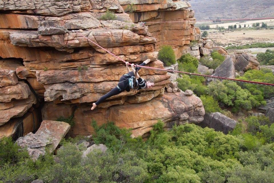 Toni doing some alternative highlining- Peter Samuelsson